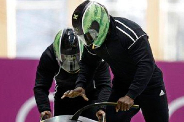 Jamaica's bobsledders struggle in Sochi, Russians lead team event