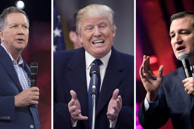 US election: Cruz-Kasich pact 'desperate' says Trump