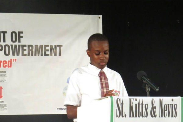 VHS Student wins Elocution Contest, presented with $1000 cheque