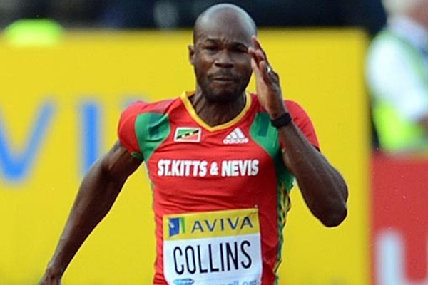 Another victory for Kim Collins.  Favored to win World Indoor Championship Gold. But will he run?