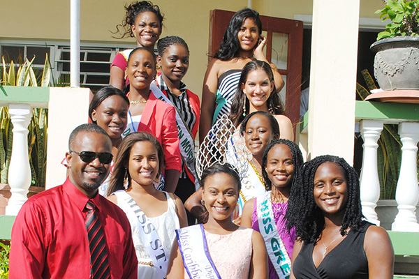 Konris Maynard hosts Haynes Smith Miss Caribbean Talented Teen Pageant contestants