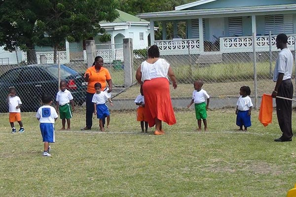 Blue House edges out Green at Maude Smith Pre School Sports Meet