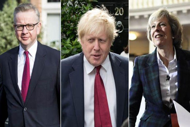 Michael Gove and Theresa May head five-way Conservative race