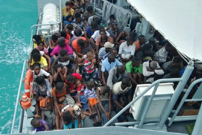 Bahamas military apprehends almost 200 illegal Haitians