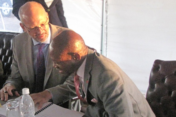 Europe's top Eastern Caribbean diplomat praises Prime Minister Douglas for vision in training of excellence center