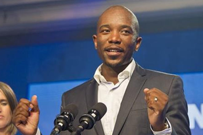 South African Opposition party elects first black leader