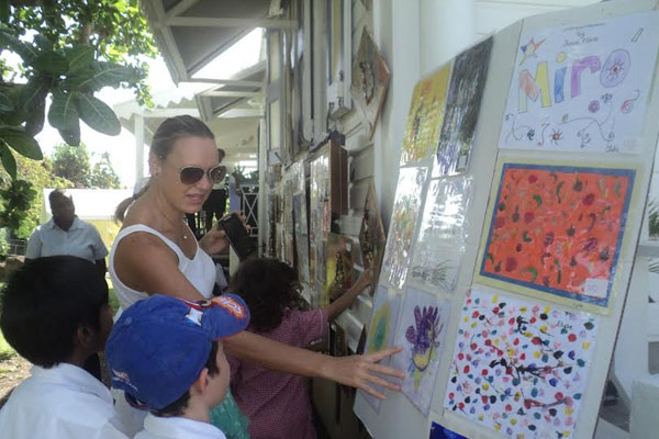Montessori academy children's art exhibition a major attraction