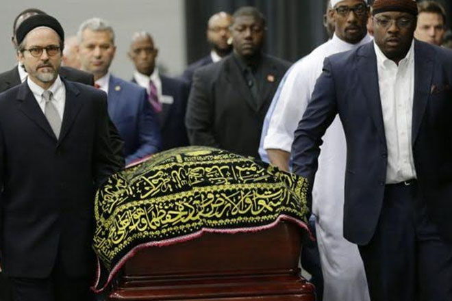 Muhammad Ali memorial begins with Muslim prayer service