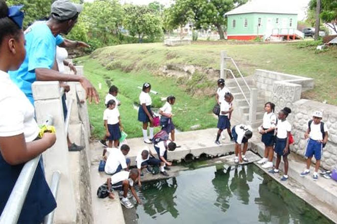 Students get first-hand look of Nevis' historical sites in Charlestown