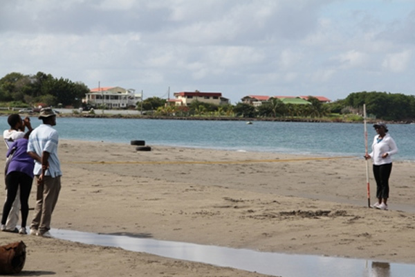 Beach Profiling Project re-launched by NIA's Department of Physical Planning