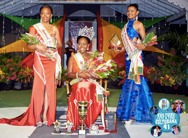 SKNA National Bank's Evania Thibou wins 2015 Ms. Culture Crown