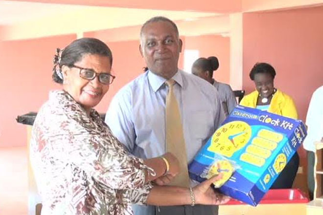Nevis Education Minister Amory thanks donors