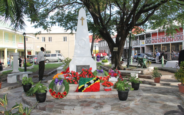 Nevis remembers Federation's World War heroes