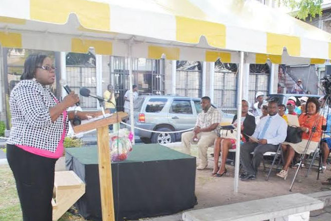 Junior Minister Brandy-Williams delivers another bag of goodies for Nevis seniors