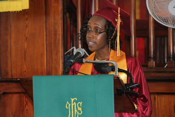 Nevis 6th Form College Valedictorian urges fellow graduands to respect authority