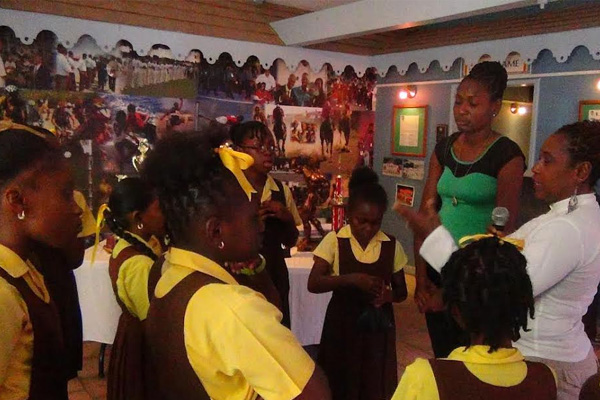 School children meet sporting stars