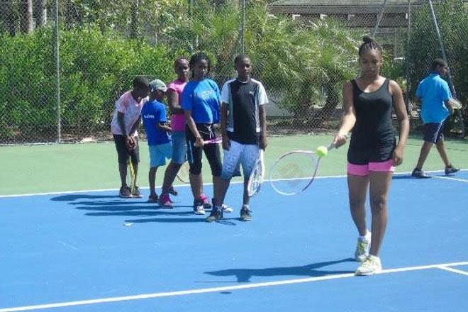 Tennis Camp underway