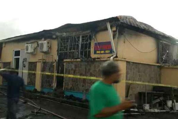 Nevis Treasury destroyed