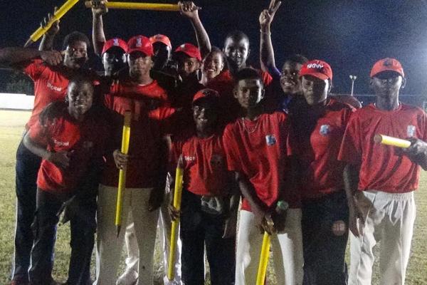 Under 17 lift Trophy at Postal Services Cricket Fes'