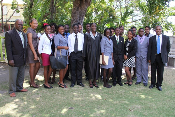 Nevis Youth Parliamentarians observe Commonwealth Day 2014