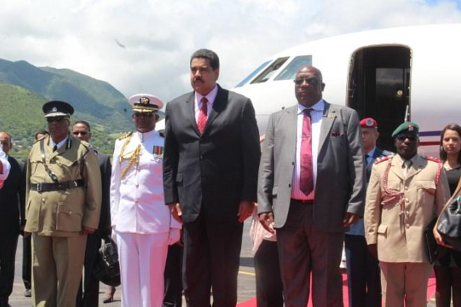 Venezuelan President Nicolas Maduro Moros Visits St. Kitts for the First Time