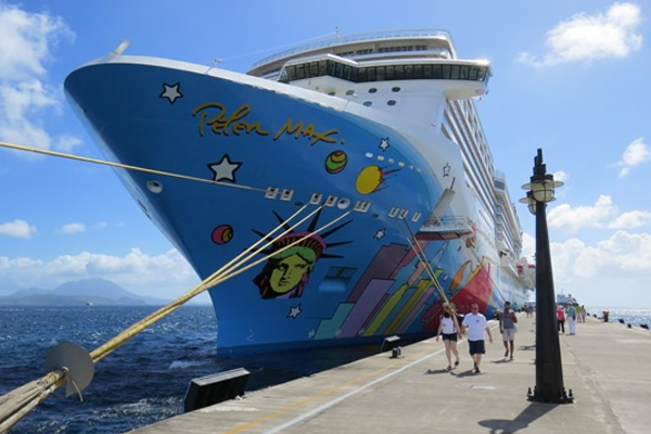 Norwegian Cruise Line ships for St. Kitts' Port Zante in 2014 and 2015