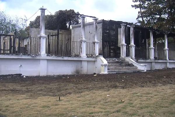 Prime Minister Douglas Condemns Arson Attack