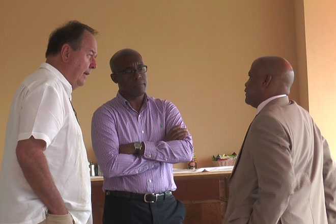 Minister Grant Tours Ocean Terrace Inn, Pledges Government's Continued Support