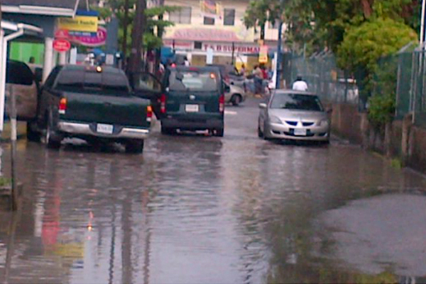 Ocho Rios roadways flooded in afternoon showers