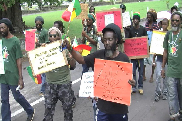 Rastafarians march for their rights