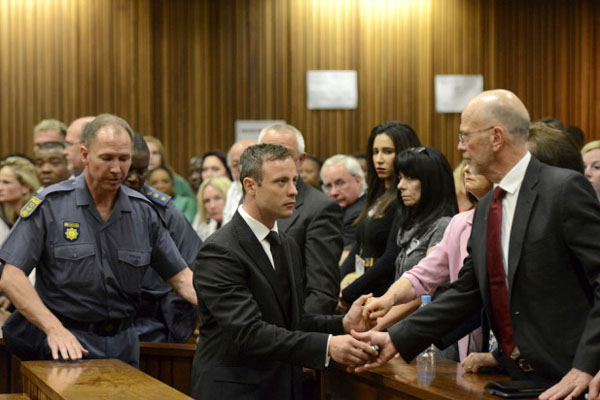 Pistorius spend first night in single jail cell