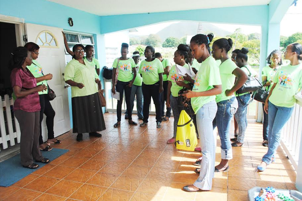 PEP Early Childhood Development trainees visit government day care centres