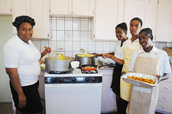 PEP hospitality trainees prepare Valentine Day luncheon for cosmetology trainees