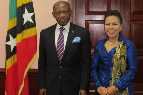 Indonesia's Ambassador calls on PM Douglas