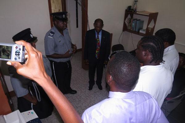 PM Douglas visits Stapleton Police Station, praises officers