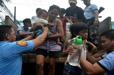Strongest typhoon of the year slams Philippines, two dead