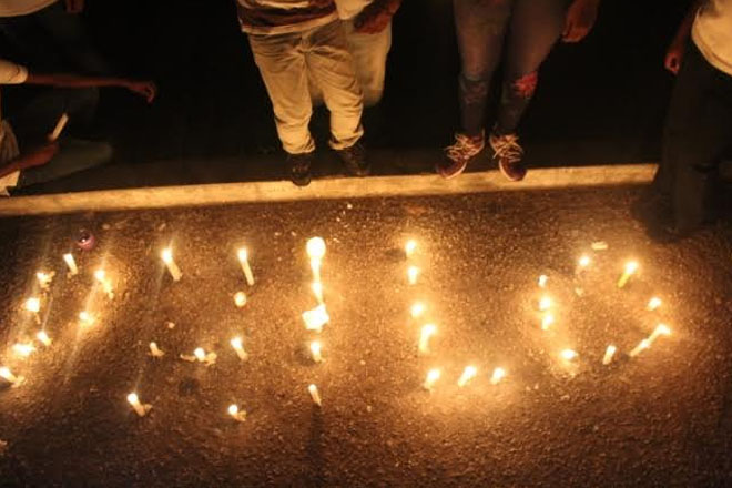 Candle Light Vigil Held for Philo Wallace