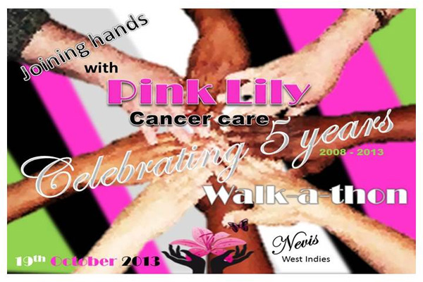 Pink Lily Cancer Care 5th anniversary walkathon on October 19th