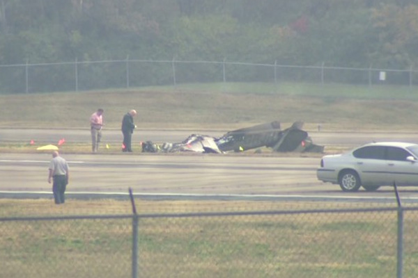 Small plane crashes at big airport; no one notices