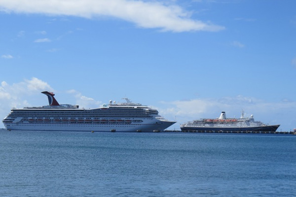 Two cruise ship dock Sunday with 3,600 passengers