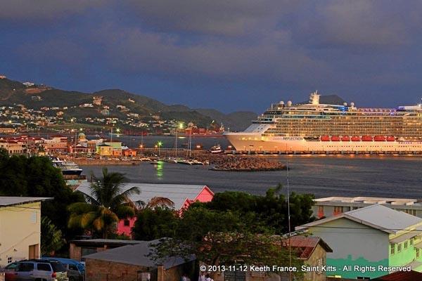 Cruise passengers enjoy sea, sun and sand in St. Kitts