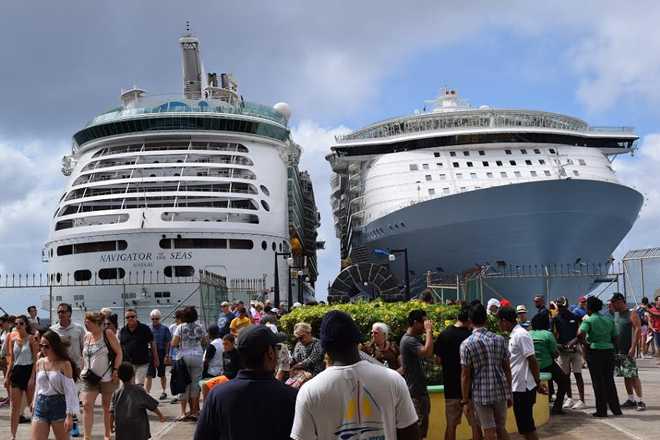 Oasis of the Seas among mega ships bringing close to 14,000 passengers to St. Kitts and Nevis