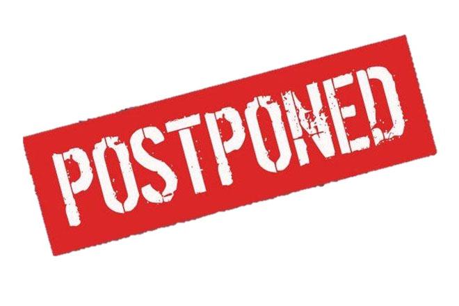 Matches Postponed