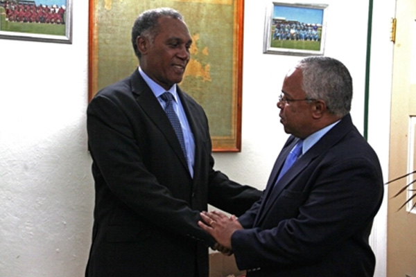 Cuban Ambassador pays courtesy call on Nevis Premier to strengthen relations