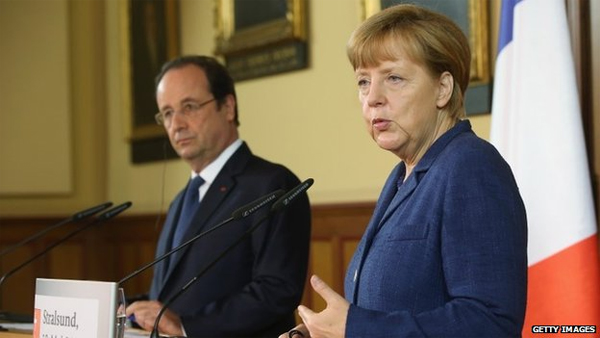 Ukraine crisis: France, Germany threaten Russia over poll