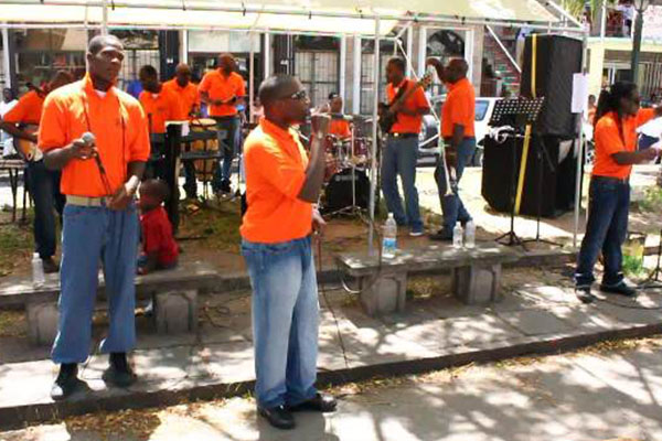Basseterre-based Prison Band performs in Nevis