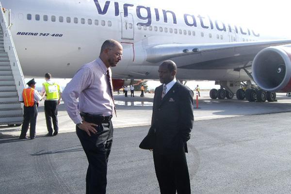 Senator Skerritt moves international airlines seating capacity from 65,000 to 132,000 at St. Kitts' Robert L. Bradshaw Airport