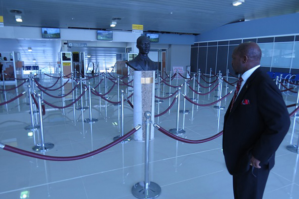 PM Douglas satisfied with expansion of Bradshaw airport Arrivals Hall