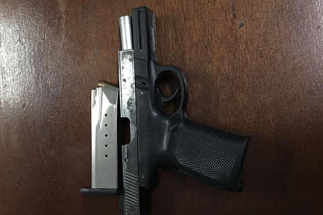 Illegal firearm seized during community safety patrol in Cayon