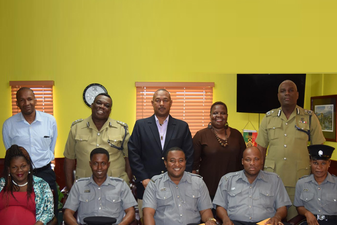Five (5) Constables promoted to the rank of Acting Corporal